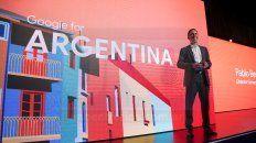 Pablo Beramendi, director General de Google Argentina, durante la presentación en Buenos Aires.
