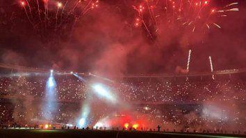 El estadio colmado tras el partido ante San Lorenzo.