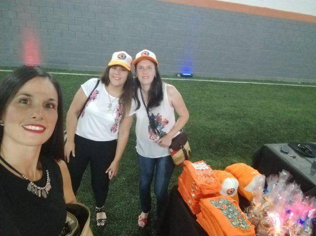 Lorena, Yanina y Estefanía.