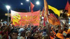 una plaza peronista coreo alberto presidente