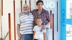Julio Ledesma y Andrés Mora (junto a su hija Maitane) hablaron de los objetivos que persigue el encuentro.
