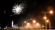 50 anos del tunel: asi se vieron los fuegos artificiales