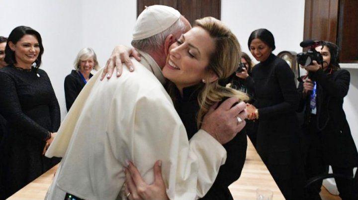 Francisco recibió ayer a la primera dama