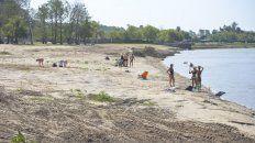 El río tocó su piso más bajo del año