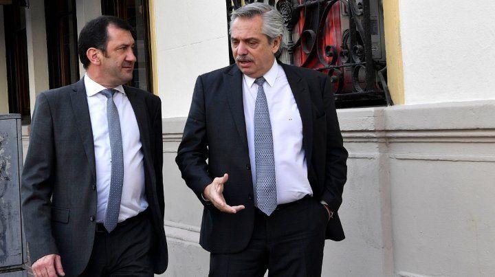 El senador entrerriano junto al presidente de la nación.