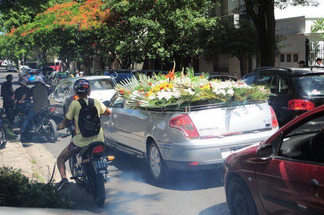 Caravana de motos para despedir a Angel