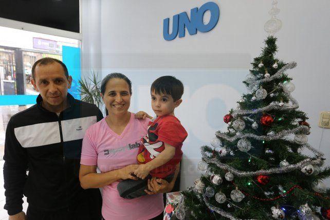 La familia pidió sus deseos para el 2020. Junto al pequeño Marco