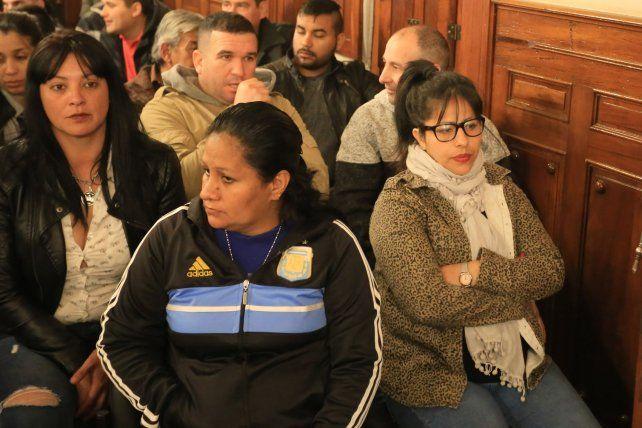Lemos (primera a la derecha) no fue expuesta a cargos ni declaró en el juicio.