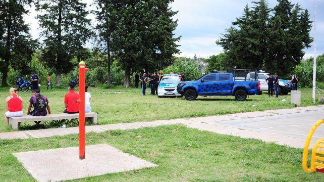 La zona del poli junto a la barranca.