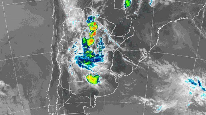 Así se presenta la región en la mañana de este domingo. Imagen satelital SMN