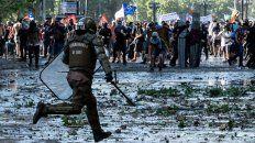 fin de ano con represion y heridos en chile