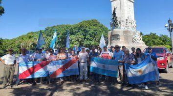 federacion agraria se despego de la protesta  en el monumento a urquiza
