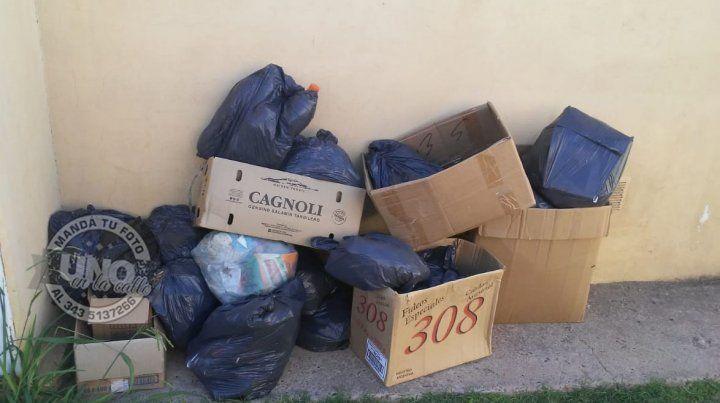 Recibimos el Año Nuevo con las bolsas de basura en el patio
