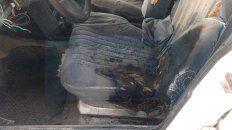 san benito: incendiaron un vehiculo y escaparon en una camioneta