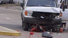 motociclista murio tras chocar con una camioneta