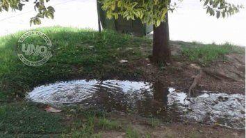 Hace días que salen líquidos de la cloaca en avenida de Las Américas