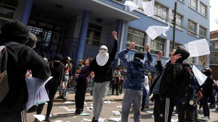 Boicotean la Prueba de Selección Universitaria en Chile