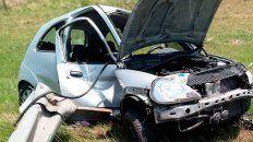un joven de 20 anos y su mascota se accidentaron en la autovia artigas