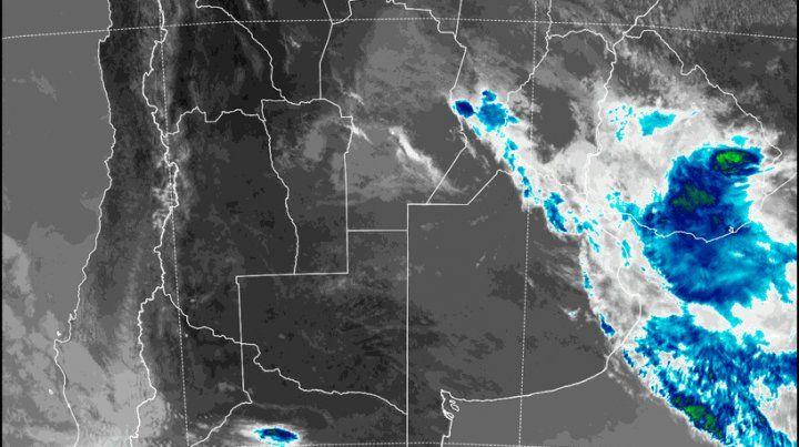 Imagen satelital del Servicio Meteorológico.