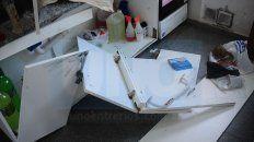 robo y destrozos en el salon vecinal del barrio 33 orientales