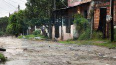 varios barrios resultaron afectados por las lluvias en parana