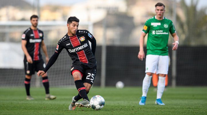 Exequiel Palacios debutó en Bayer Leverkusen