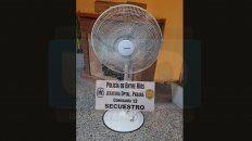 recuperaron el ventilador robado en la parroquia santo domingo savio