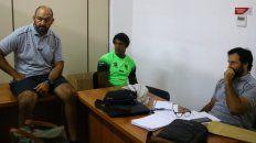 El entrenador paranaense (izquierda) junto a la Pantera Montero y Raúl Pérez (head coach).