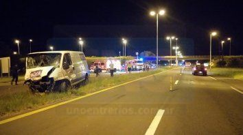 autovia artigas: tres personas fallecieron en un accidente