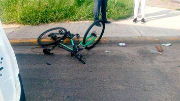 Así quedó la bicicleta del muchacho.