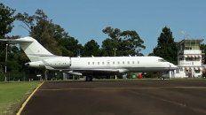 El avión llegó el martes a Concordia.
