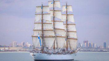 La llegada de la Fragata a Mar del Plata.