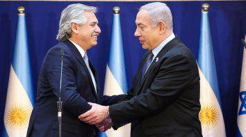Fernández remarcó a Netanyahu el compromiso por esclarecer el atentado a la sede de la AMIA.