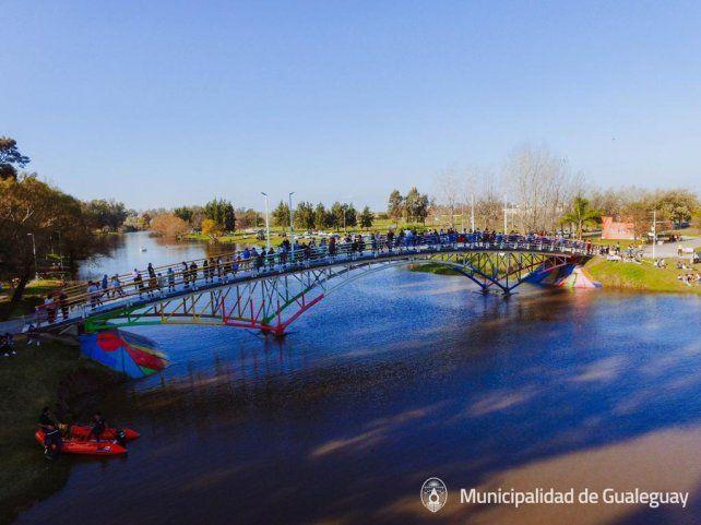 El puente del reservorio es ideal para ver las competencias.