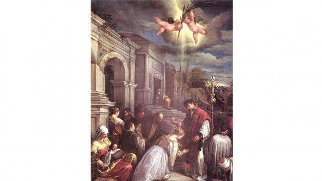 San Valentn celebrando un matrimonio a escondidas del emperador Imagen Wikipedia