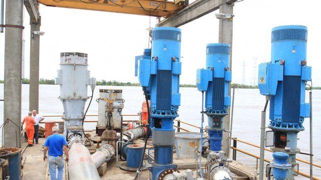 La producción de agua potable estuvo dos horas interrumpida.