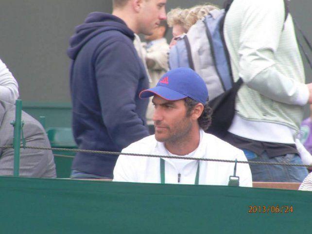 El entrenador de tenis Damián Patriarca, en Boca Ratón
