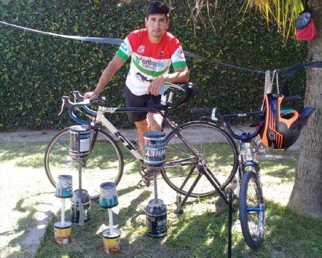 Por el coronavirus, Marcos Fuentes entrena desde su casa