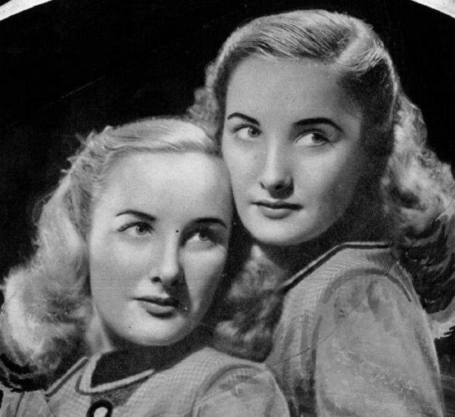 Goldie junto a Mirtha, en la promoción de una película.