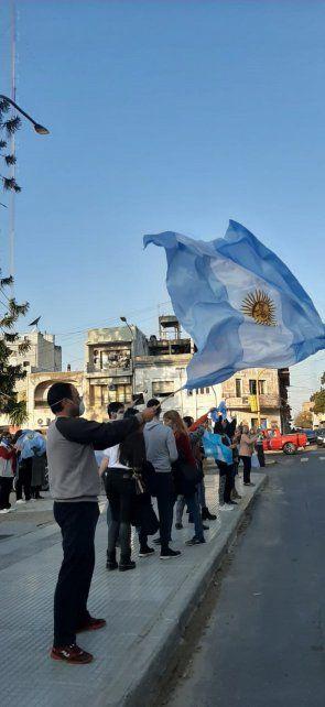 El banderazo también se hizo sentir en Paraná