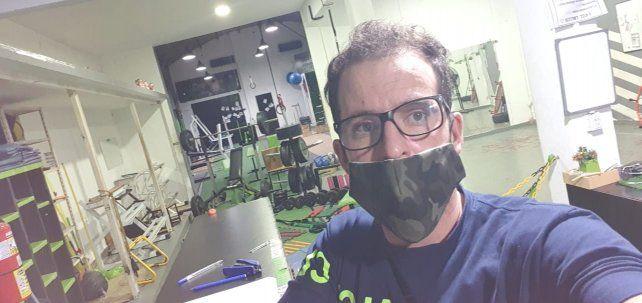 Erbetta dueño de uno de los tantos gimnasios que cerraron en Paraná
