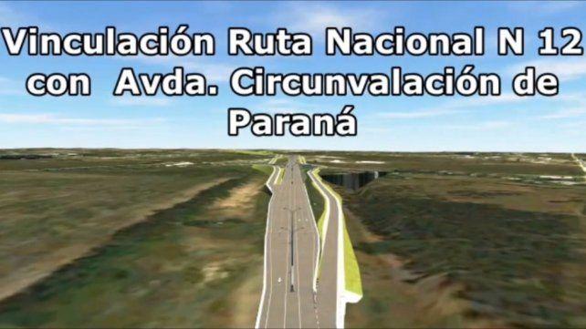 Así se verá el ingreso a Paraná el año que viene, según anunciaron.