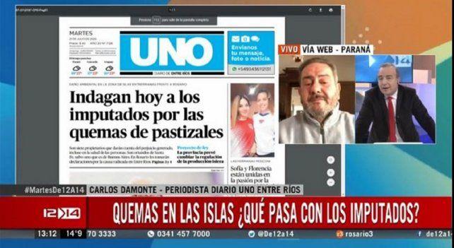 El título de UNO impactó en los medios rosarinos.