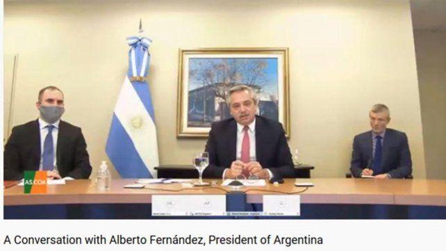 El presidente Alberto Fernández dijo ayer ante el Council of the Americas que se debe repensar la lógica financiera del capitalismo