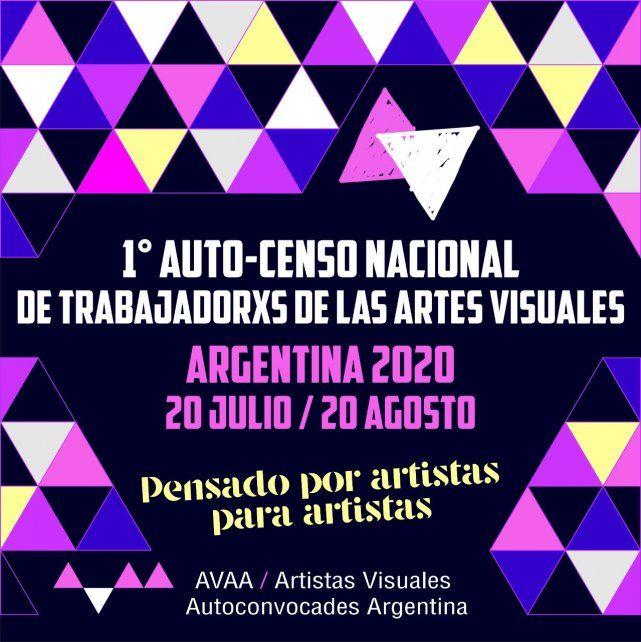 Comenzó el Primer Auto-Censo Nacional de Trabajadores de las Artes Visuales creado porArtistasVisuales Autoconvocades Argentina