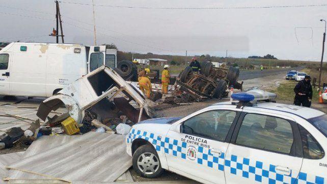 Unaccidente de tránsitoocurrió este viernes, pasadas las 10, frente al puesto caminero de Antelo, ubicado en el kilómetro 13 de la ruta provincial 26, en el departamentoVictoria.