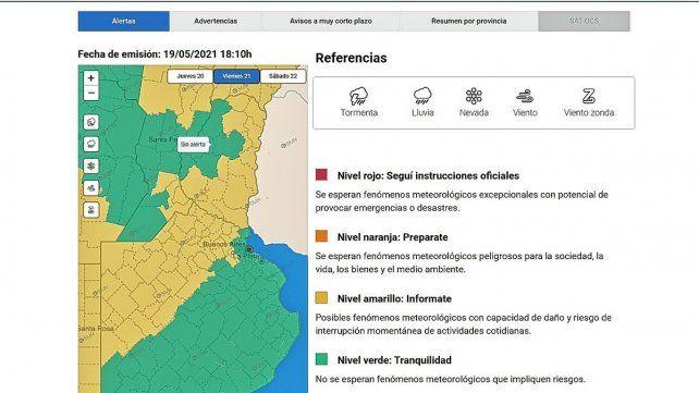 El pronóstico del tiempo anticipa jornadas lluviosas en la provincia